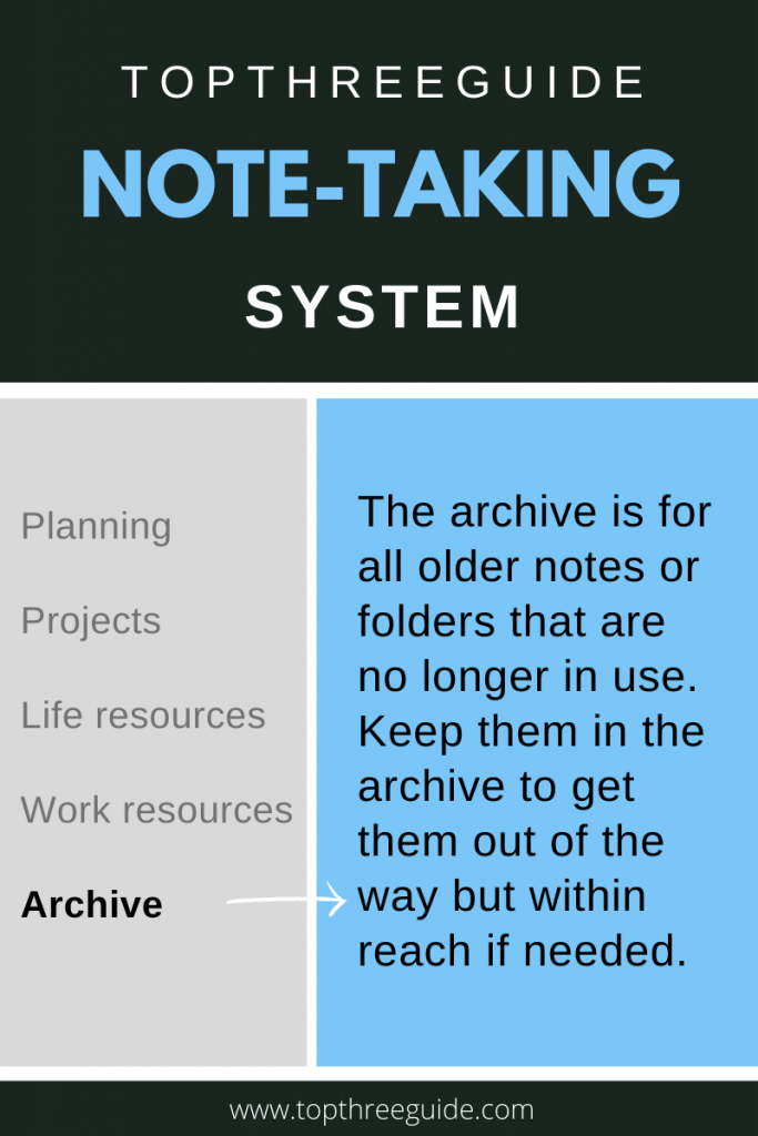 tips for note-taking with T3G