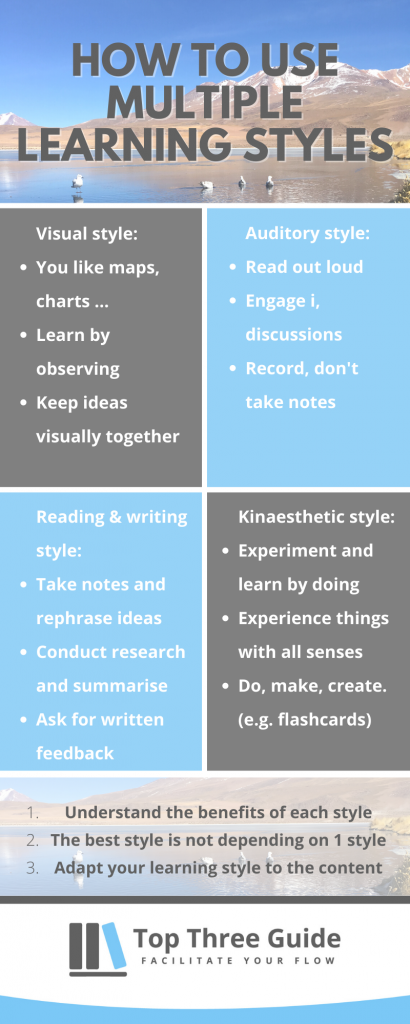 What are the learning styles and how to benefit from using different types of learning styles