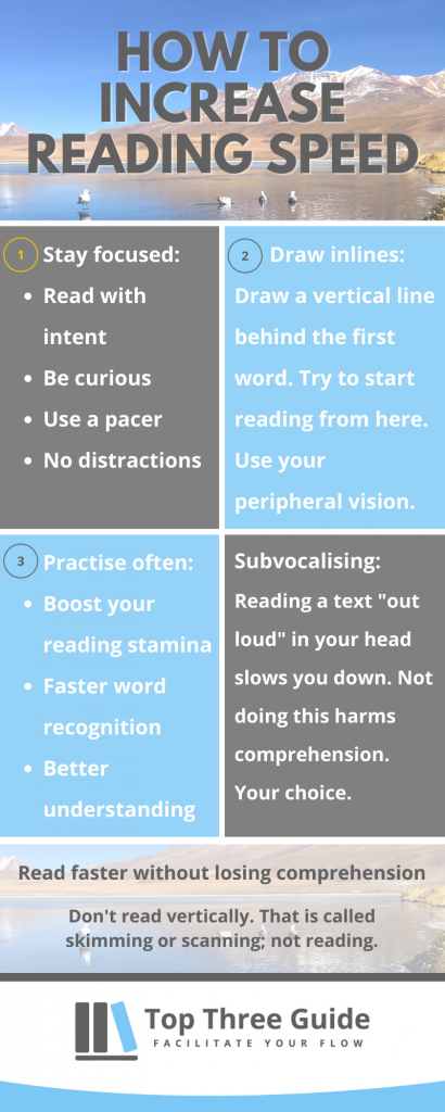 Speedreading tips to increase reading speed without losing comprehension